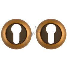 Дверные накладки на цилиндр .коричневые